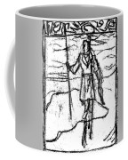 After Billy Childish Black Oil Drawing B2-7 Coffee Mug