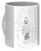 After Billy Childish Girl Pencil Drawing B2-16 Coffee Mug