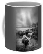 After The Rain On The Mountain In Black And White Coffee Mug