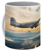 Alaska Airlines Dc-3 Over Seattle Coffee Mug