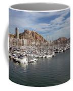 Alicante Marina And The Santa Barbara Castle Coffee Mug