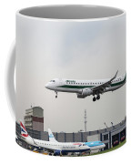 Alitalia Embraer 190 Bird Near Miss Coffee Mug