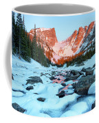 Alpenglow At Dream Lake Rocky Mountain National Park Coffee Mug