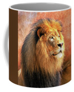 Alpha Male Lion Coffee Mug by Howard Bagley