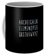 Alphabet Elemeno Coffee Mug