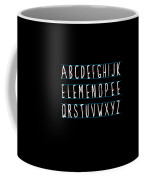 Alphabet Elemeno Coffee Mug