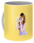 Amateur Photographer Practising With Retro Camera Coffee Mug