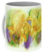 Amenti Yellow Iris Flowers Coffee Mug