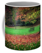 An Autumn Bench At Clyne Gardens Coffee Mug
