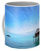 An Exclusive Resort Bungalow Over A Calm Tropical Sea. Coffee Mug