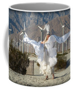 Angel Swirling In The Desert Coffee Mug