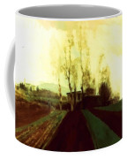 Arable Land Corridors In The Early Spring Coffee Mug