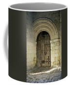 arched door at Fontevraud church Coffee Mug