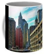 Architecture Nyc From Brooklyn Bridge  Coffee Mug