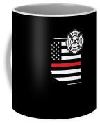 Arizona Firefighter Shield Thin Red Line Flag Coffee Mug