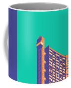Trellick Tower London Brutalist Architecture - Plain Green Coffee Mug