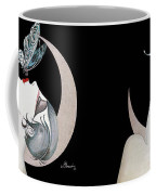 Butterfly Kiss French Art Deco Flapper Woman Coffee Mug