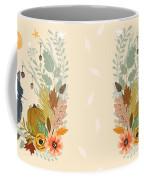 Autumn Garden Moonlit Kitty Cat Coffee Mug