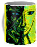 Two Faces - Green - Female Coffee Mug