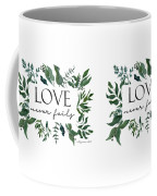 Emerald Wild Forest Foliage 2 Watercolor Coffee Mug