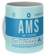 Retro Airline Luggage Tag 2.0 - Ams Amsterdam Netherlands Coffee Mug