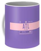 Retro Airline Luggage Tag 2.0 - Atl Atlanta United States Coffee Mug