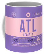 Retro Airline Luggage Tag 2.0 - Atl Atlanta United States Coffee Mug