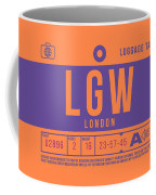 Retro Airline Luggage Tag 2.0 - Lgw London Gatwick Airport United Kingdom Coffee Mug