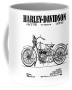 1928 Harley Davidson Motorcyle Patent Illustration Art Print Coffee Mug by David Millenheft