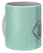 1920s Blue Deco Jazz Swing Monogram ...letter W Coffee Mug