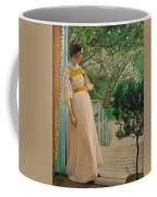 At The French Windows. The Artist's Wife Coffee Mug
