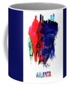 Atlanta Skyline Brush Stroke Watercolor   Coffee Mug
