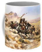 Attack On The Wagon Train Coffee Mug