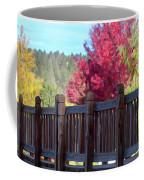 Autumn Bridge Coffee Mug by David Millenheft