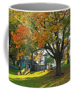 Autumn Day In The Salem Willows Salem Ma Red Coffee Mug