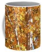 Autumn Golden Leaves Coffee Mug