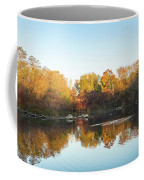 Autumn Mirror - Silky Wavelets Caused By Ducks Coffee Mug