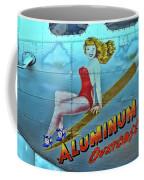 B - 17 Aluminum Overcast Pin-up Coffee Mug