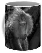 Baboon Black And White Coffee Mug