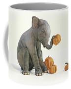 Baby Elephant And Pumpkins Coffee Mug