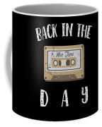 Back In The Day 80s Cassette Funny Old Mix Tape Coffee Mug