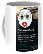 Back To Tbmonkeytwits Coffee Mug by Catherine Lott