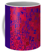 Background With Letters Over Purple Backlight Coffee Mug