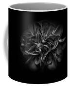 Backyard Flowers In Black And White 67 Coffee Mug by Brian Carson