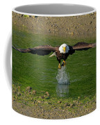 Bald Eagle Catching A Fish Coffee Mug
