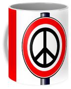 Ban The Bomb Road Sign Coffee Mug