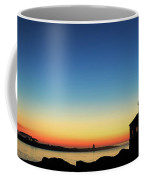 Bandon Lighthouse Twilight Panorama Coffee Mug