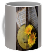 Banjo And Two Sunflowers Coffee Mug