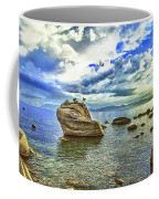 Bansai Rock, Lake Tahoe, Nevada, Panorama Coffee Mug