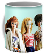 Barbies On Blue Coffee Mug